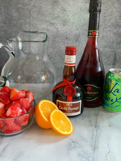 Red Cocktail Recipe, Red Punch Recipe, Rosa Regale Recipe, Grand Marnier Punch Recipe