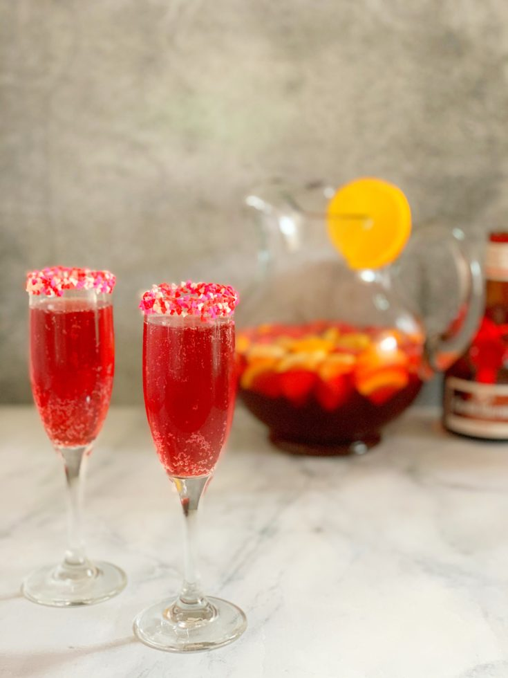 Valentines Day Cocktail, Sparkling Punch Recipe, Red Cocktail Recipe, Easy Valentines Day Cocktail Recipe