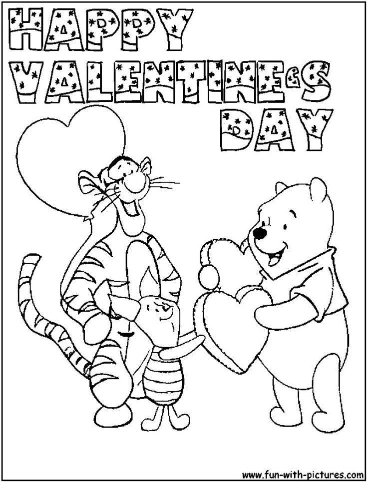 Disney Princess Valentines Day Coloring Pages