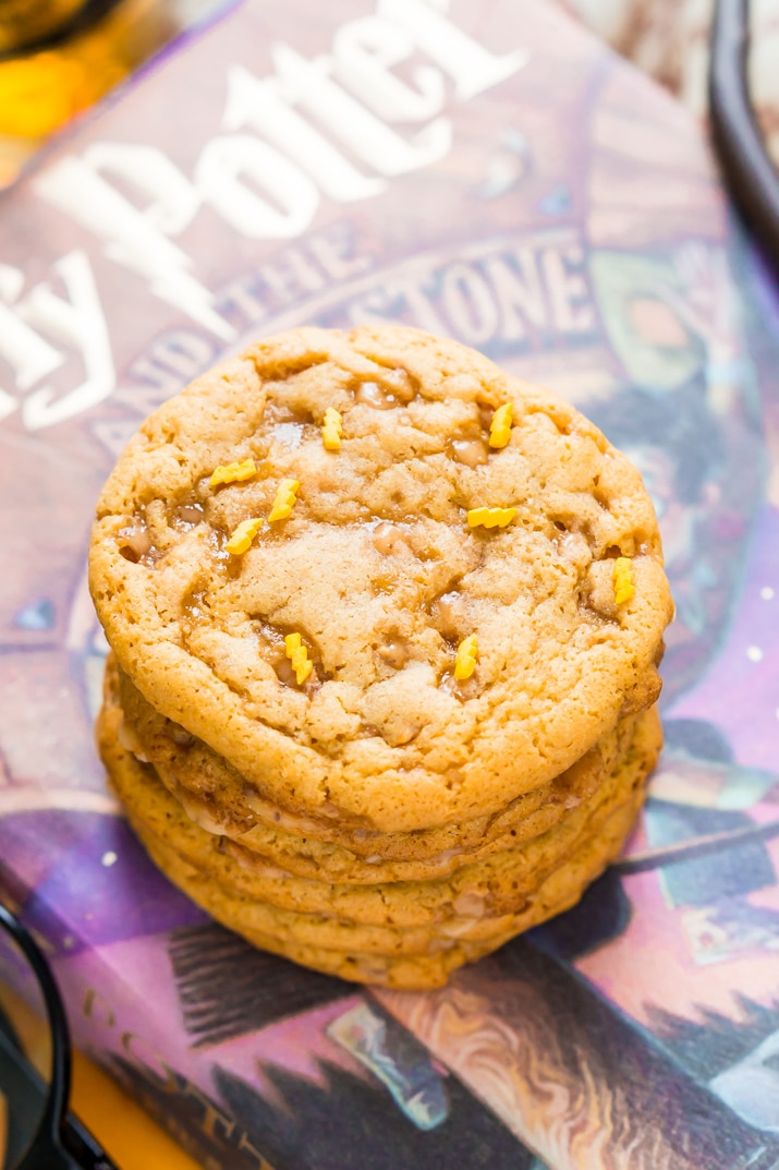 Harry Potter Butterbeer Pudding Cookies
