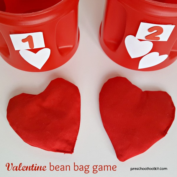 Valentine Bean Bag Toss Game for Kids