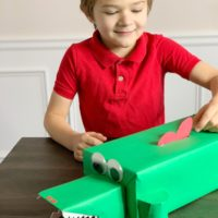 Alligator Valentines Box Tutorial: For Your Little Reptile Fan