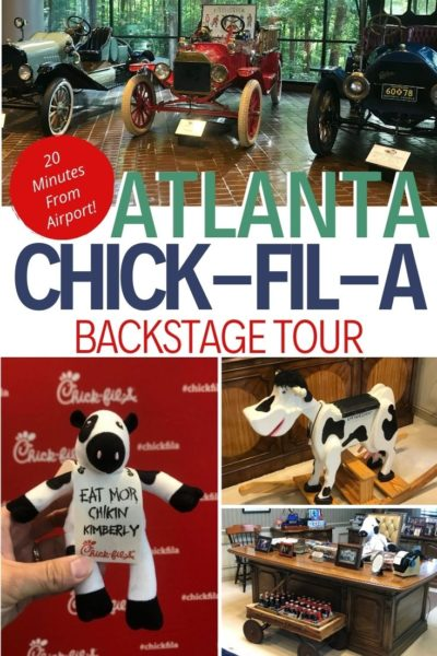 Just twenty minutes from the Atlanta Airport, the Chick-Fil-A Home Tour (Backstage Tour) is a behind-the-scenes look at their headquarters. See how to take the tour for FREE. #FamilyTravel #BudgetTravel #Atlanta #TravelWithKids #ChickFilA