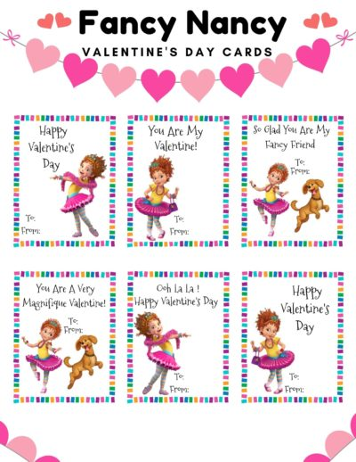 Fancy Nancy Printable Valentines Day Cards, Fancy Nancy Valentines, Fancy Nancy Valentines Day Printable