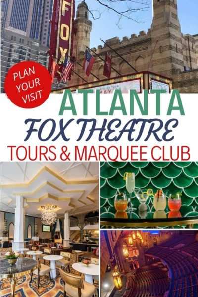Everything you need to know about Atlanta's Fox Theatre beyond the shows: how to tour the property, join the Marquee Club and even the food prices. #Atlanta #AtlantaFamily #FamilyTravel