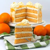 Luscious Layered Orange Cake Recipe: Spring Dessert Idea