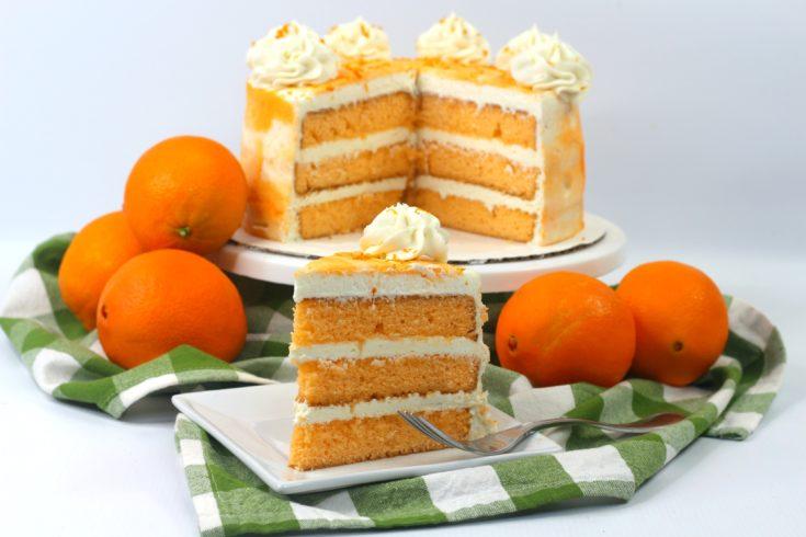 Layered Orange Cake, How To Make A Layered Orange Cake