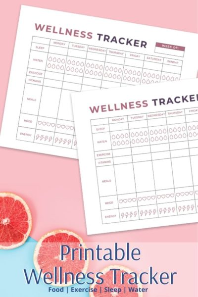 Print your free wellness tracker to start making small changes today. This tracks food, exercise, energy, water consumption, exercise and vitamins. #Wellness #Health #wellnessideas #wellnesstips #fitnesstracker #fitnesstips #healthtips #healthtracker
