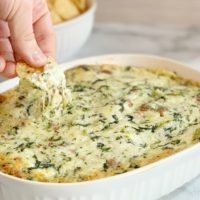 Spinach Dip With Bacon Recipe: Warm, Creamy & Cheesy