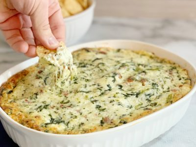 Spinach Dip With Bacon Recipe, Easy Spinach Dip Recipe, Creamy Spinach Dip Recipe