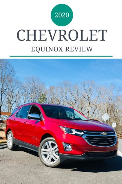 Review of the 2020 Chevrolet Equinox. See how this small SUV has changed from the 2019 model with new standard features and upgrade options. #Chevrolet #SUVReview #CheveroletEquinox #FamilyTravel