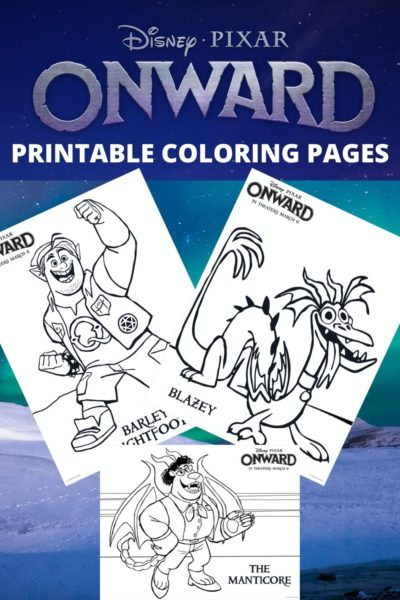 Print FREE Pixar Onward Coloring Pages! #Pixar #DisneyColoringPages #DisneyMovies #ColoringSheets #Printable