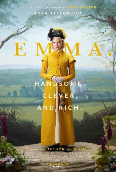 Emma 2020 movie poster, Emma movie, Jane Austen Emma Poster