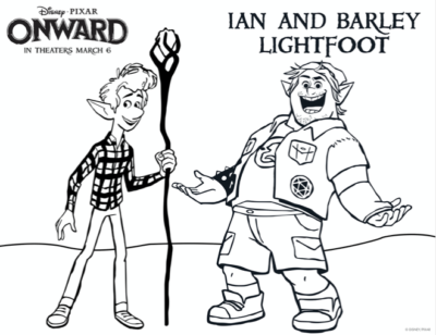 Pixar Onward Coloring Pages, Onward Movie Coloring Sheets