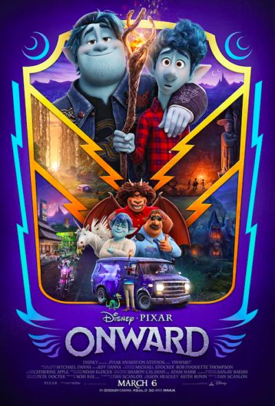 Disney Pixar Onward Poster, Disney Pixar Onward Movie Poster, Onward Atlanta Screening