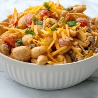 Taco Pasta Salad Recipe (Made With Shells & No Lettuce)