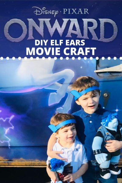 """Make your own elf ears! Inspired by Disney Pixar's """"Onward"""" Movie, kids can make this easy paper craft. This Disney Pixar """"Onward"""" craft will have them channeling their inner Ian and Barley! #Pixar #DisneyMovies #DisneyMovieCrafts #DisneyCrafts #PaperCrafts #KidsCrafts"""