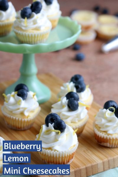 These Mini Cheesecakes recipe is perfect for entertaining. They're easy to make and you can top with whatever fruit toppings you prefer. This recipe makes 48 mini cheesecakes - perfect for an Easter dessert or party! #EasterDessert #Cheesecake #MiniCheesecakes #EasterDessertIdeas #EasterDessertRecipes #SpringDessertRecipes