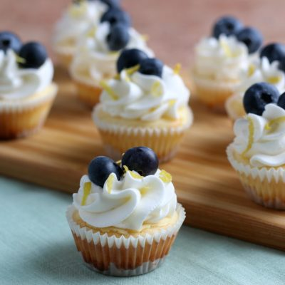 Mini Cheesecakes Recipe: Lemon Blueberry Cheesecake Bites