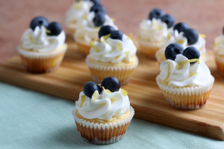 Mini Cheesecakes Recipe, Blueberry Lemon Cheesecake Bites, Cheesecake Bites, Easy Cheesecake Recipe