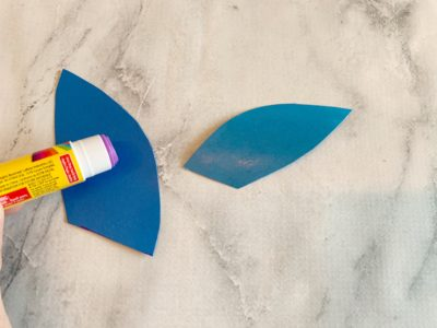 Gluing Card Stock Together, Kids Paper Craft