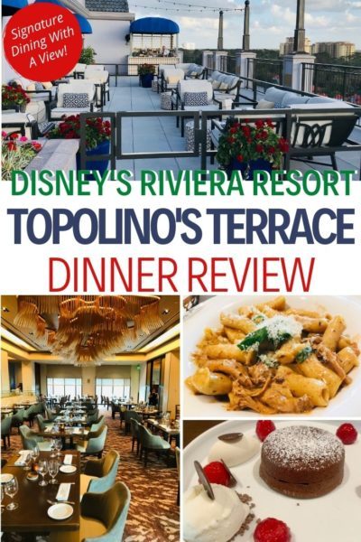 Looking for a nice sit down meal at Walt Disney World? The NEW Topolino's Terrace, at Disney's Riviera Resort, is a signature dining Italian restaurant for dinnertime. This FULL review has you covered with the best dishes and the view that you can't miss out on. #WaltDisneyWorld #DisneyFood #DisneyDining #DisneyWorldGuide #FamilyTravel #Orlando #DisneyDining #DisneyWorldTips