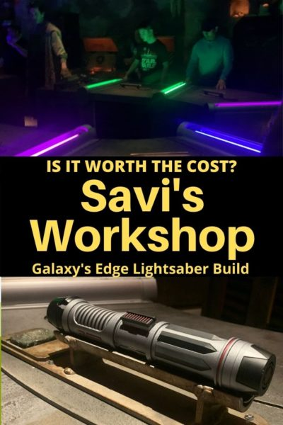 Review of Savi's Workshop At Galaxy's Edge: This Walt Disney World experience doubles as a souvenir and a show. Find out if it's worth adding to your Hollywood Studios itinerary. #HollywoodStudios #GalaxysEdge #WaltDisneyWorld #DisneyPlanning #DisneyWorldTips #StarWars #LightSaber