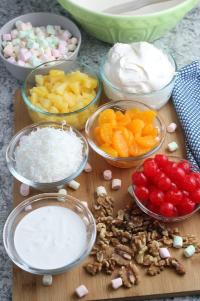 Ambrosia Salad Ingredients, Easy Ambrosia Salad, Dessert Salad Recipe