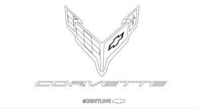 Corvette Design, Corvette Logo Coloring Page, Corvette Fans