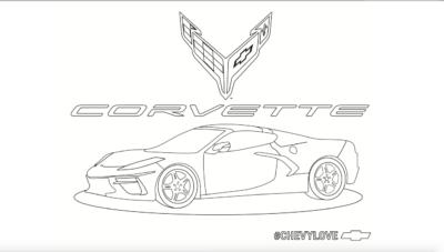 Corvette Fan, Corvette Coloring, Chevrolet Fans