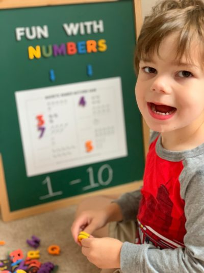Preschool educational counting resource