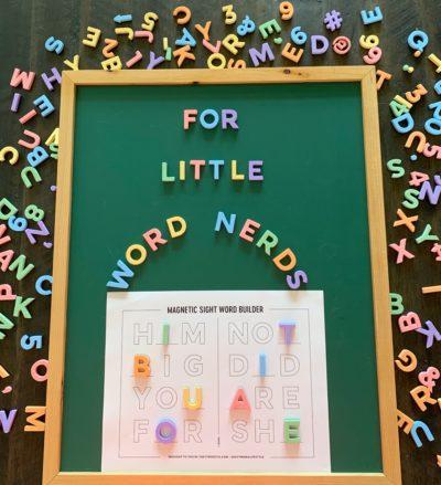 Kindergarten Sight Word Practice, Printable Kindergarten Sight Word Worksheets