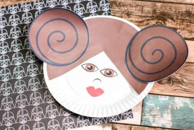 Star Wars Craft Idea, Star Wars Craft For Kids, Princess Leia Craft, Paper Plate Craft