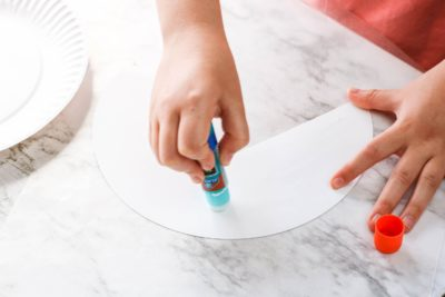 Step 1 instructions paper plate craft