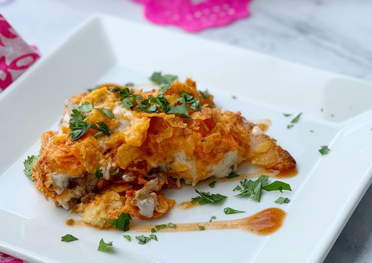 Doritos Taco Pie Recipe, Easy Family Dinner Idea, Tex Mex Family Dinner Recipe