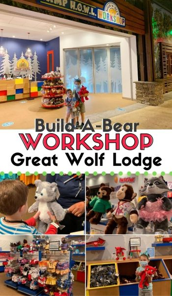 Heading to Great Wolf Lodge for a family vacation? Check out everything you need to know about their Build-A-Bear experience! Be prepared and know prices ahead of time. #GreatWolfLodge #FamilyTravel