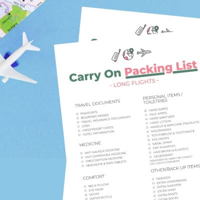 Post Covid-19 Carry On Packing List Printable (FREE)