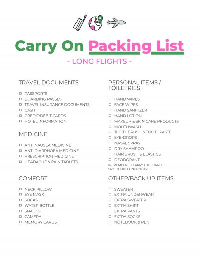 Post Covid-19 Carry On Packing List, What To Carry On The Plane