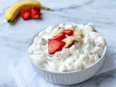 Strawberry Banana Cheesecake Dessert Salad Recipe