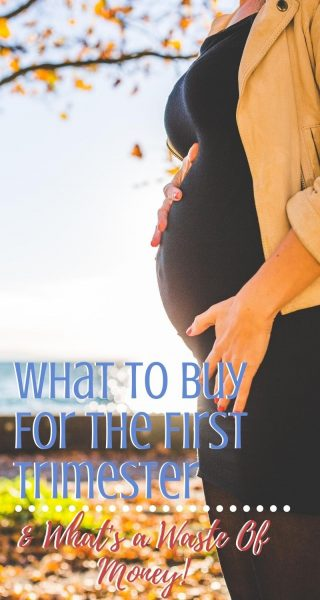 What to buy when you find out that you're pregnant - the first trimester must haves! Plus, what's a waste of money and what to wait to purchase. #Firsttrimester #Pregnancy #Pregnant #Healthypregnancy