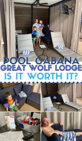 Great Wolf Lodge Cabana Rental: Is it worth the price? Here's everything you need to know, plus what's included and what you'll pay more for! #GreatWolfLodge #FamilyTravel #GreatWolf