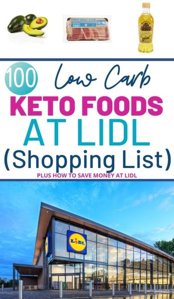 Grab your Lidl Keto Grocery Shopping List for can't miss low carb items! Plus, check out their prices on hot keto items. #Lidl #KetoGroceryList #KetoFoods #ketoDiet