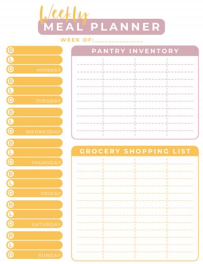 Printable Weekly Meal Planner, Free Printable Weekly Meal Planner, How To Meal Plan