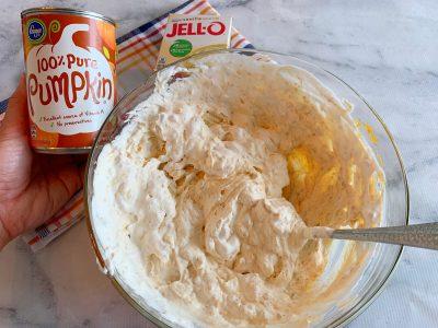 Steps to make pumpkin dessert dip