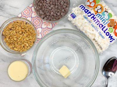 Homemade Rocky Road Candy Ingredients