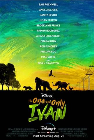 The One and Only Ivan Movie Poster - now streaming on Disney+