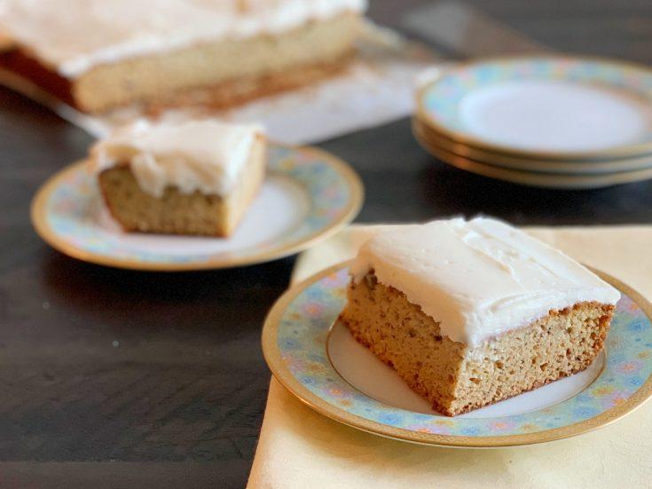 Banana Sheet Cake With Cream Cheese Frosting Recipe