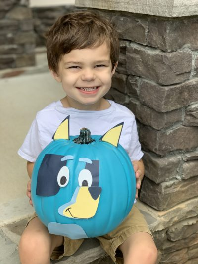 Disney Junior Bluey, Bluey Craft Idea, No-Carve Halloween Pumpkin