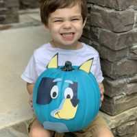 Disney Junior Bluey No-Carve Pumpkin For Halloween