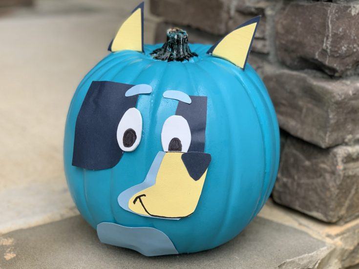 Disney Junior Bluey No-Carve Pumpkin Craft